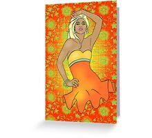 Summer Pinup Cartoon Greeting Card