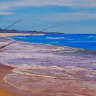 Cheryl's Boys - Beach Fishing (Australia) by Carole Elliott