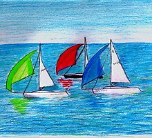 Sailing on paper by Paulmayfield