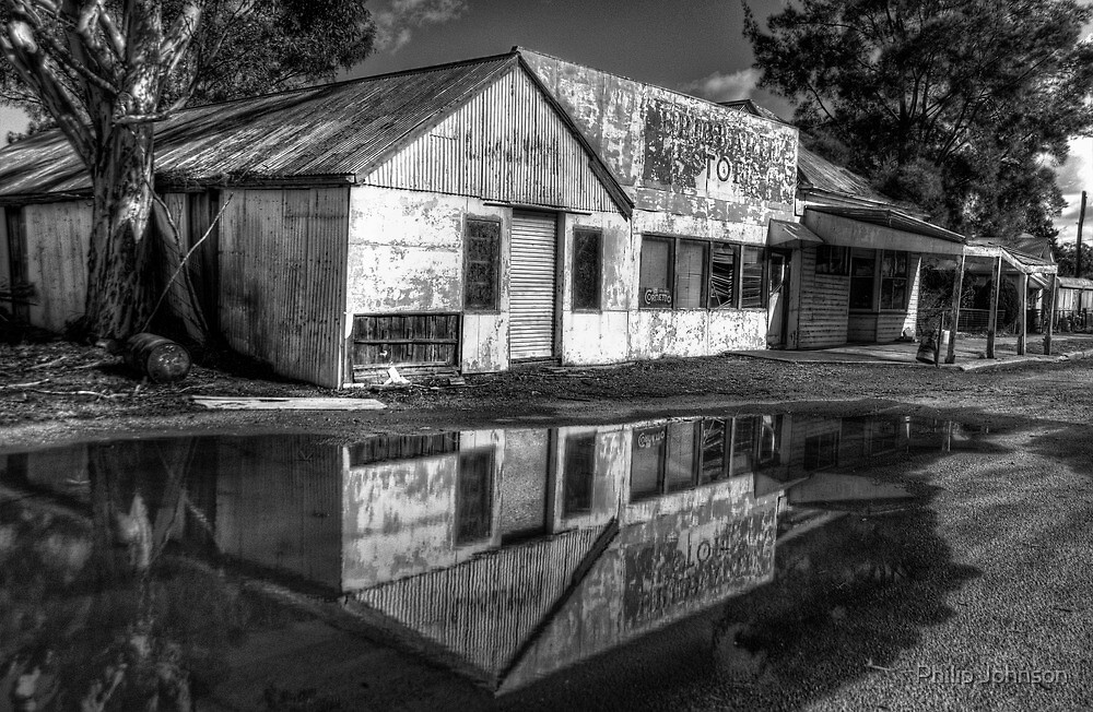 Down The Corner Shop -  Riverina Treasures #1 (Monochrome) = The HDR Experience by Philip Johnson