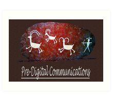 Boulder Petroglyphs Art Print