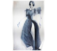 Expressionist fashion oriented figure painting - Hybrid no 04  Poster