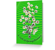 A Riot of Spring Flowers- too Greeting Card
