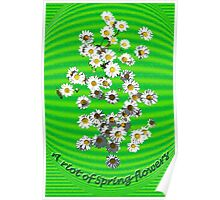 A Riot of Spring Flowers- too Poster