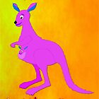 A Kangaroo Happy Birthday Little One card by Dennis Melling