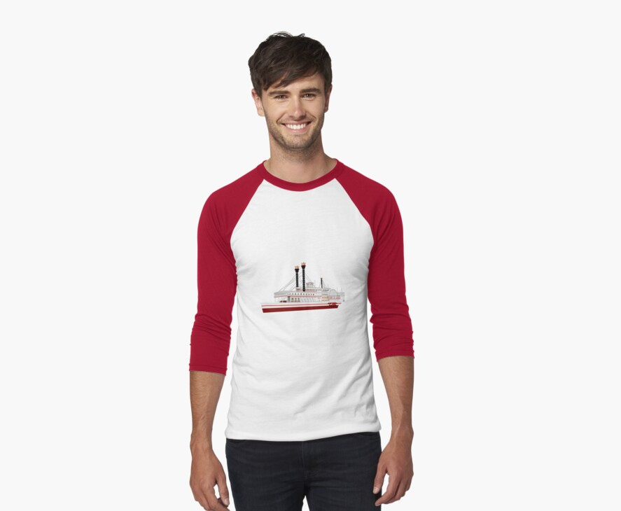 The Robert E Lee Paddle Wheeler 1866 T-shirt by Dennis Melling