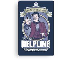 TARDIS Helpline Canvas Print