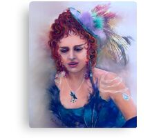 Lady Carousel Canvas Print