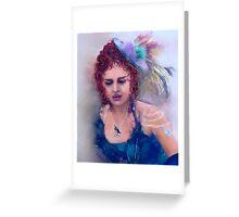 Lady Carousel Greeting Card