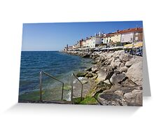 A Day On the Slovenian Coast Greeting Card
