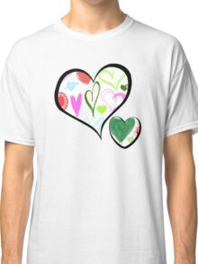 Love, Romance, Hearts - Red Blue Pink Green Classic T-Shirt