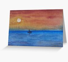 Solo Sunset Sail Greeting Card