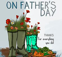 Father's Day Card With Wellies And Flowers by Moonlake
