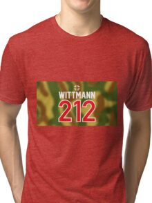 Panzer Aces - Michael Wittmann Camo Tri-blend T-Shirt