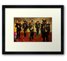 Cats in Suits Framed Print