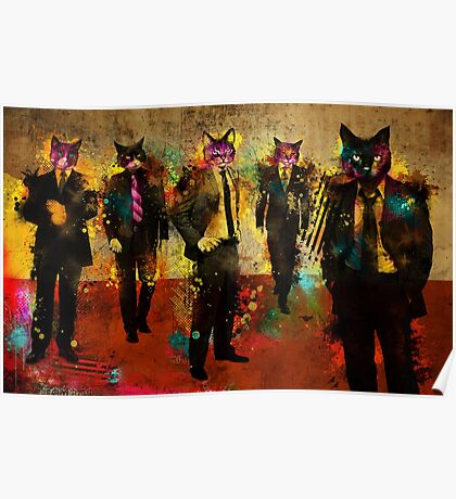 Cats in Suits Poster