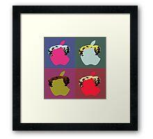 Pop Apple Framed Print