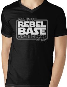 All Your Rebel Base Mens V-Neck T-Shirt