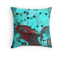 Monster Gift Throw Pillow