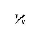 TH/V Logo Black on White / iPad by Thierry Vincent