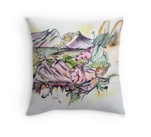 Inhabitants  Throw Pillow