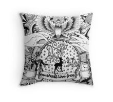 Peace, Love and Cigarettes  Throw Pillow