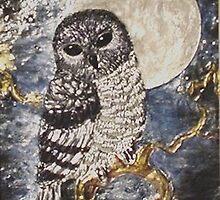 Peaceful Owl by arlenedelahenty