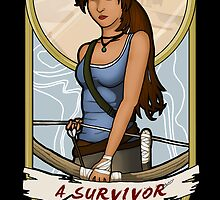 Tomb Raider Art Nouveau by mikaelaK