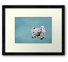 Hanging the moon Framed Print