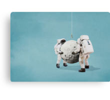 Hanging the moon Canvas Print