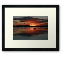 The perfect ending Framed Print