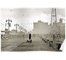 Moment in Coney Island. Brooklyn, New York Poster
