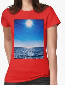 Sun, water, sky Womens Fitted T-Shirt