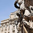 Angels on the corner, Trevi fountain, Rome, Italy by buttonpresser
