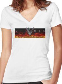 Vikings Tv Shows Women's Fitted V-Neck T-Shirt
