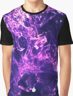 Purple Glittery Ink/Oil Graphic T-Shirt
