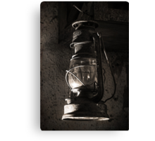 The Old Oil Lamp Canvas Print