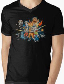 Star Team Mens V-Neck T-Shirt