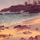 Bierstadt Albert Bahama Beach, fine art landscape oil painting. by naturematters