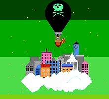 Retro Cloud City by CurryLemon