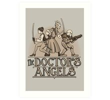 The Doctor's Angels Art Print