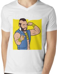 Mr T I Pity Da Fool Mens V-Neck T-Shirt