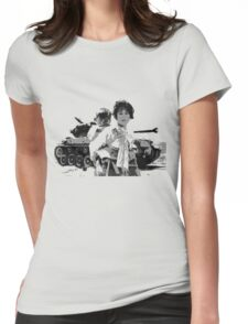 Korean War Refugees Womens Fitted T-Shirt