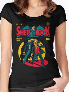 Sherlock Comic Women's Fitted Scoop T-Shirt