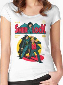 Sherlock Comic Women's Fitted Scoop T-Shirt