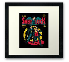 Sherlock Comic Framed Print