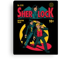 Sherlock Comic Canvas Print
