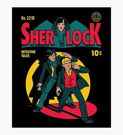 Sherlock Comic Photographic Print