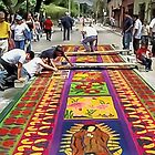 Making an Alfombra for Semana Santa  by heatherfriedman