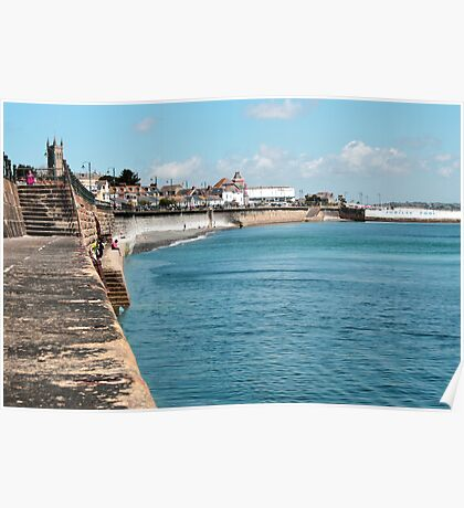 Penzance - The Sea Wall Poster